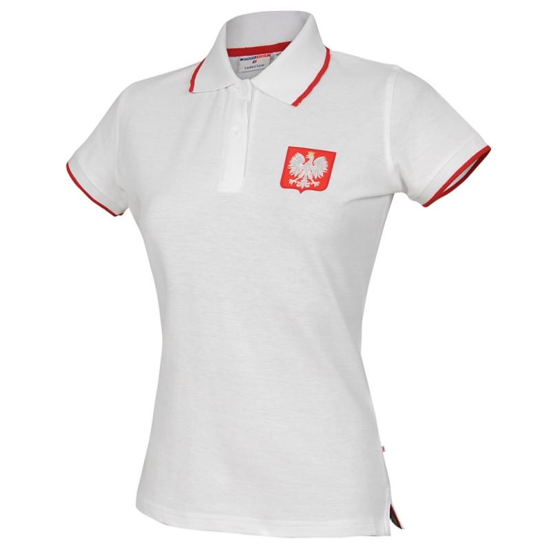 8f179cbee Biała koszulka polo – Polska (damska) – Sklep Blisko Polski
